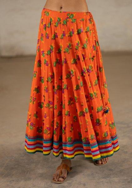 Toska Orange Limited Edition Ghagra Skirt
