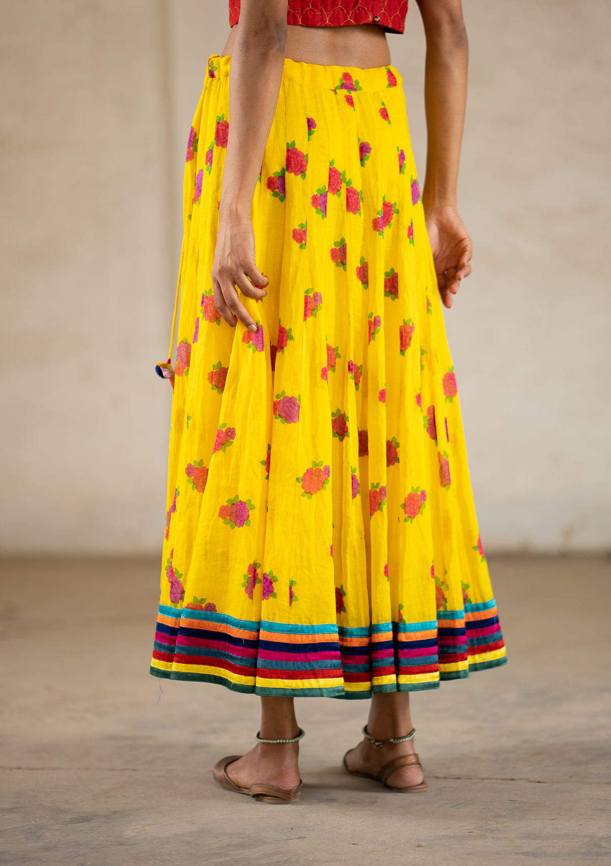 Meraki Yellow Limited Edition Ghagra Skirt