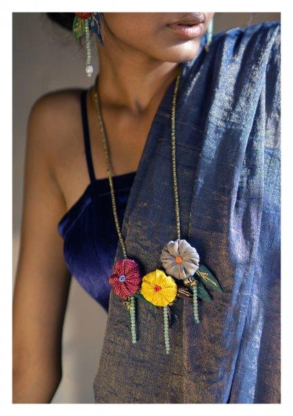 Botanica Textile Necklace