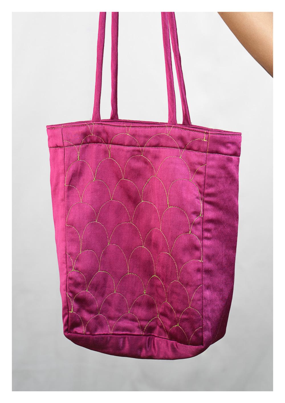 Gulla Pink Handmade Tote Bag