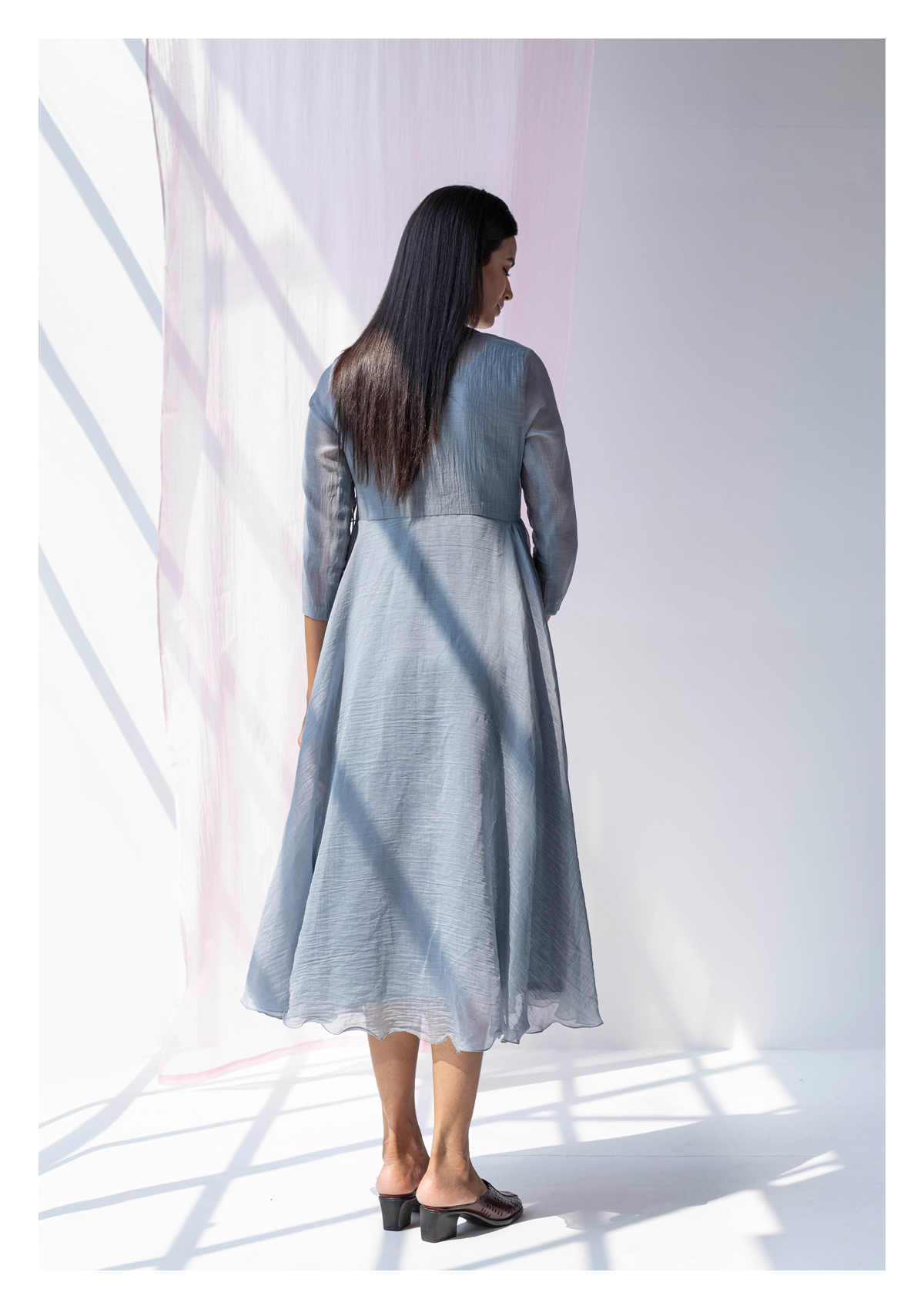 Siva Grey Chanderi Dress