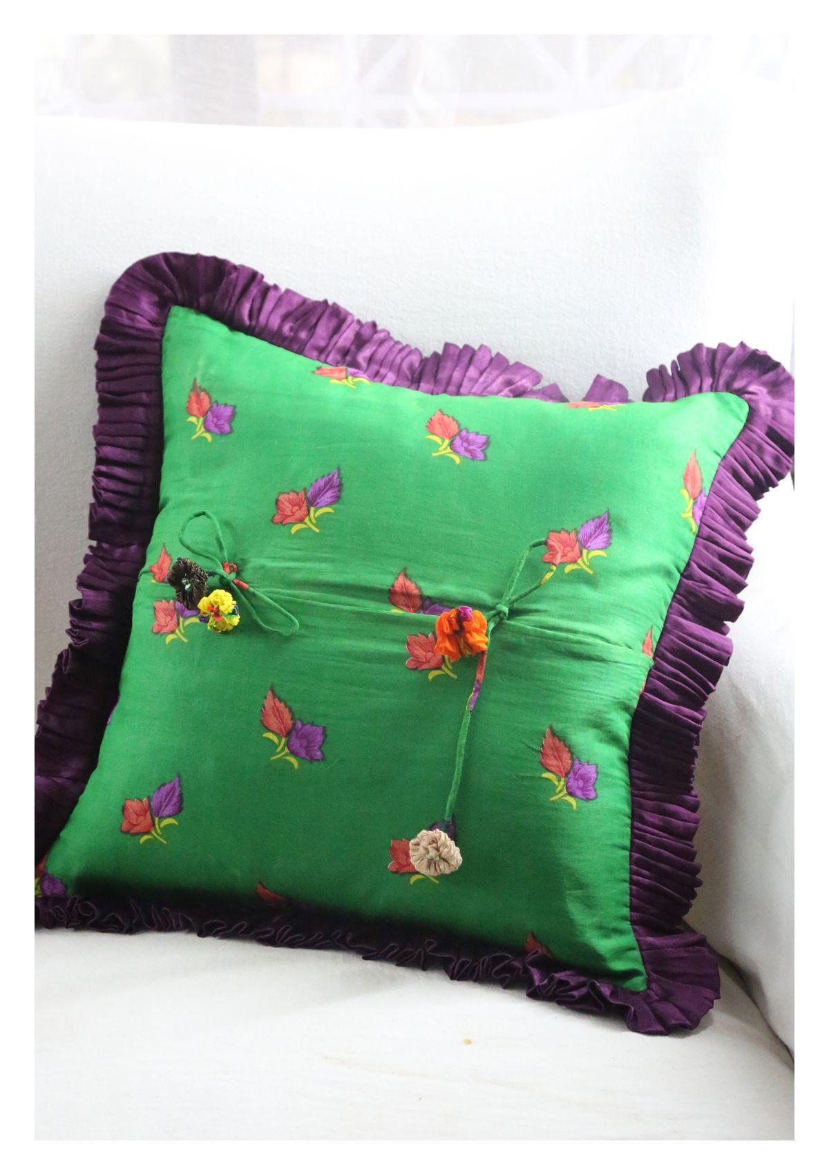 Wisa Mashru Silk Cushion Cover
