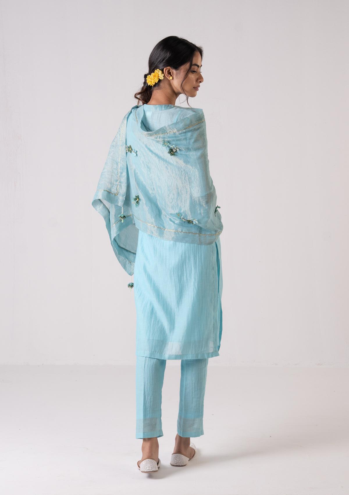 Amra Blue Kurta Pants Set