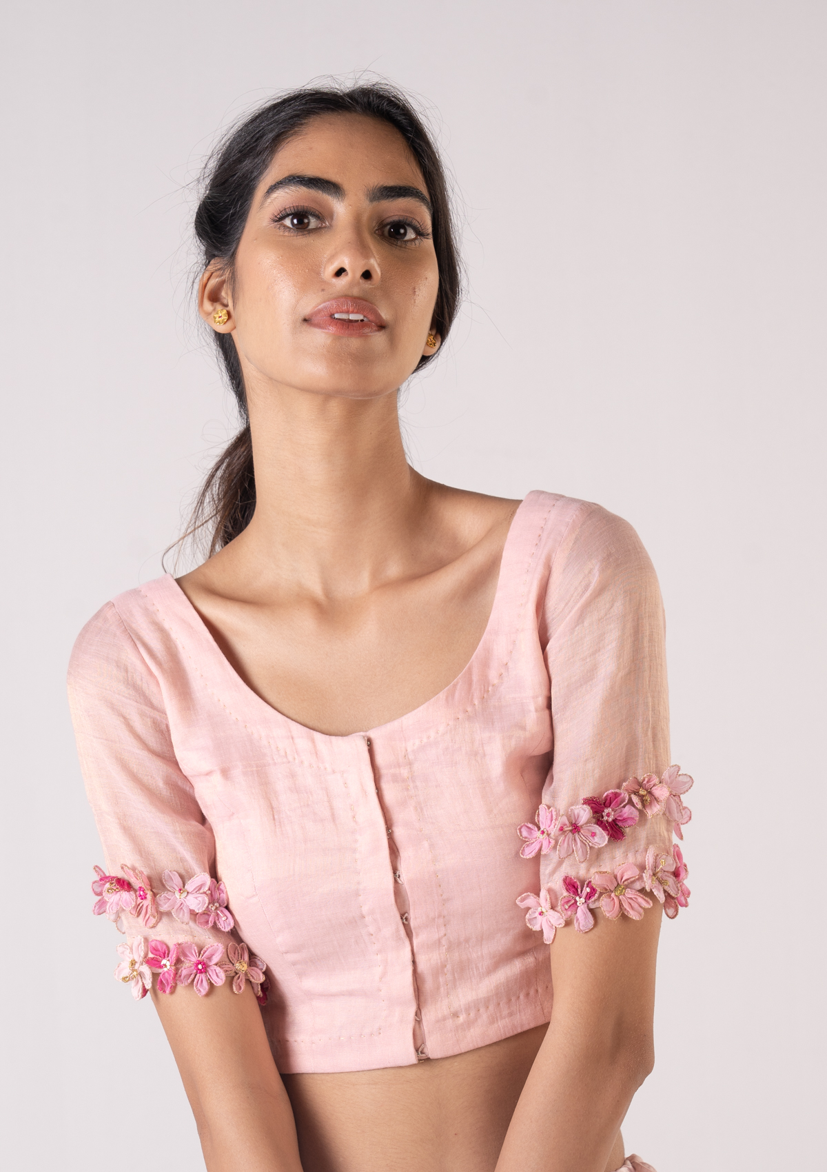 Asal Pink Tissue Blouse