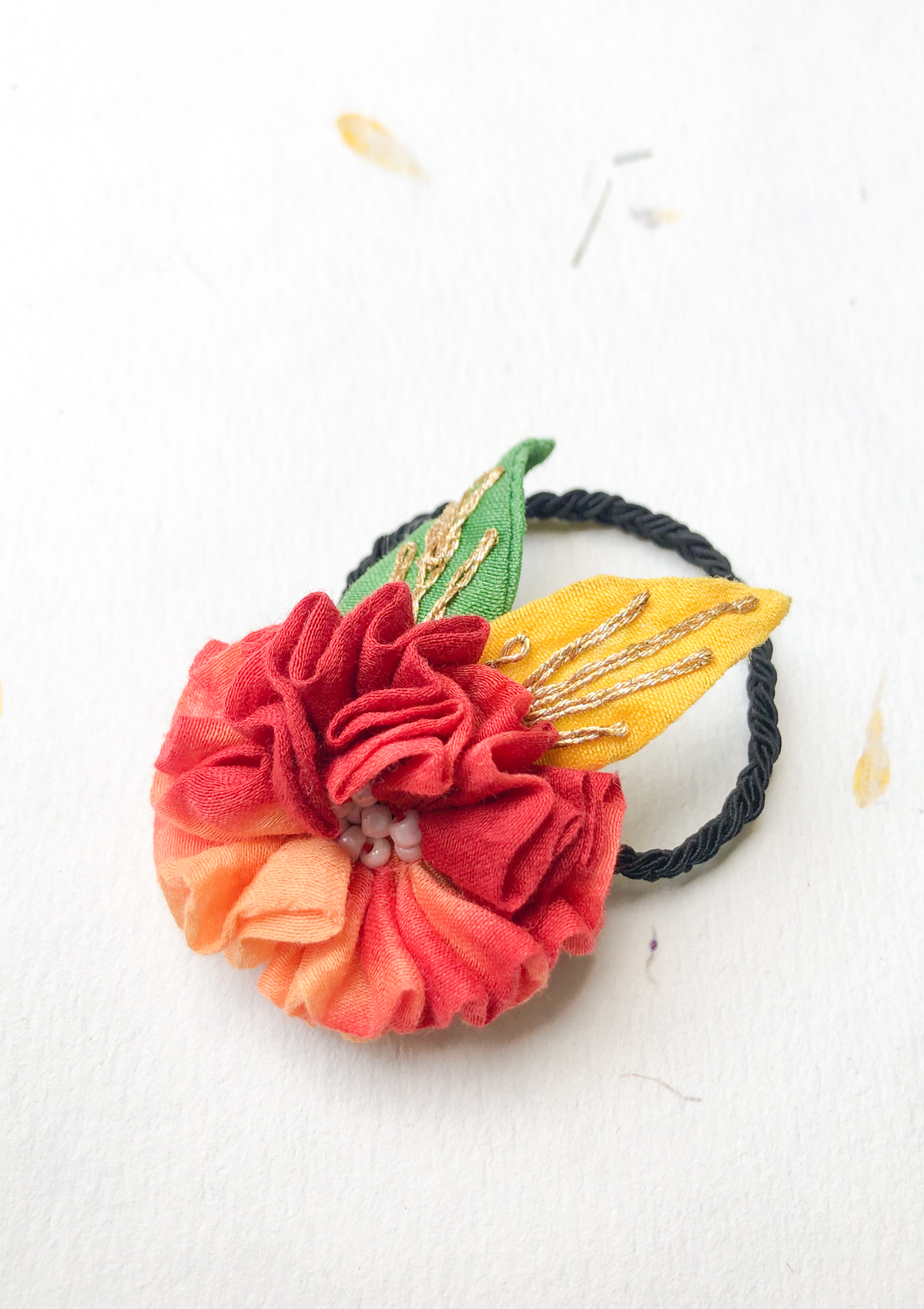 Stay You Floral Rubber Band