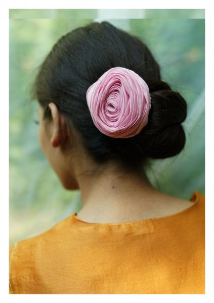 DayLily Handmade Textile Rose Accessory