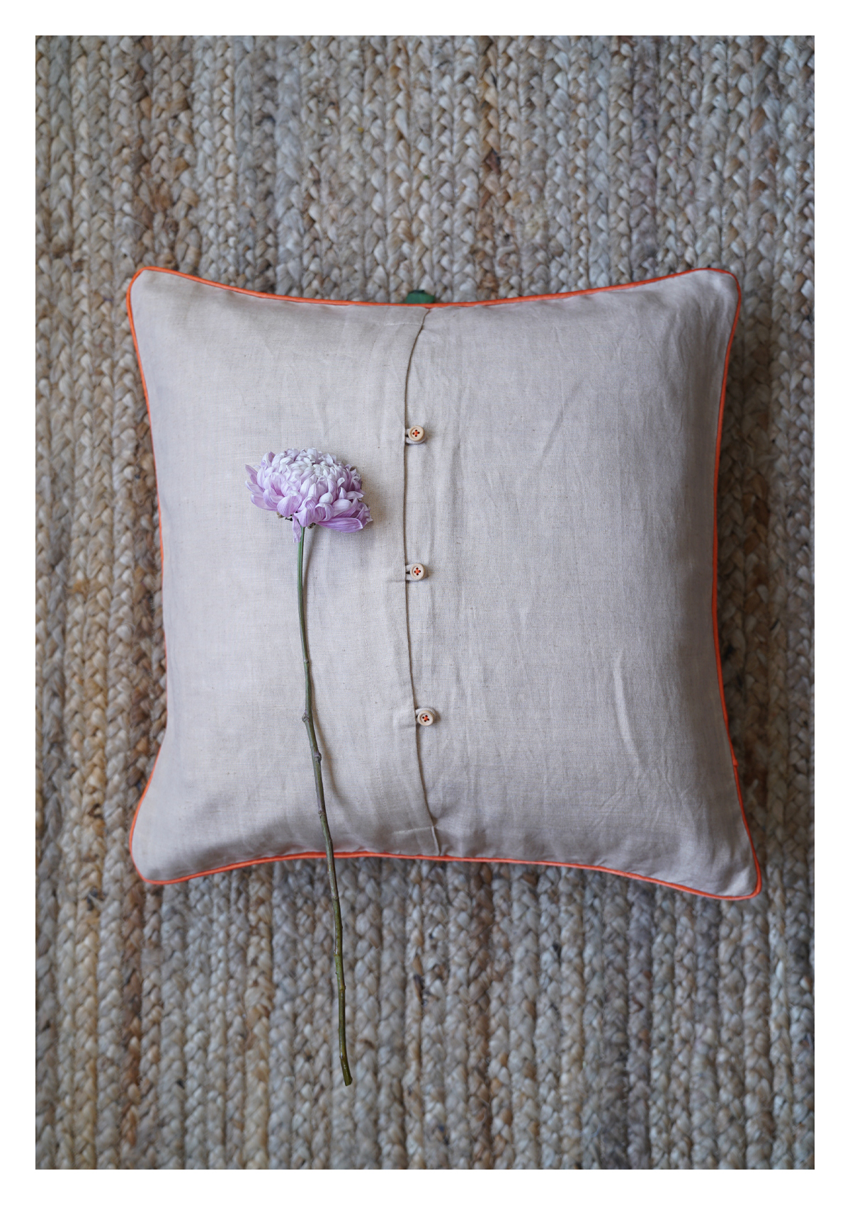 Beloved Lotus Linen Cushion Cover