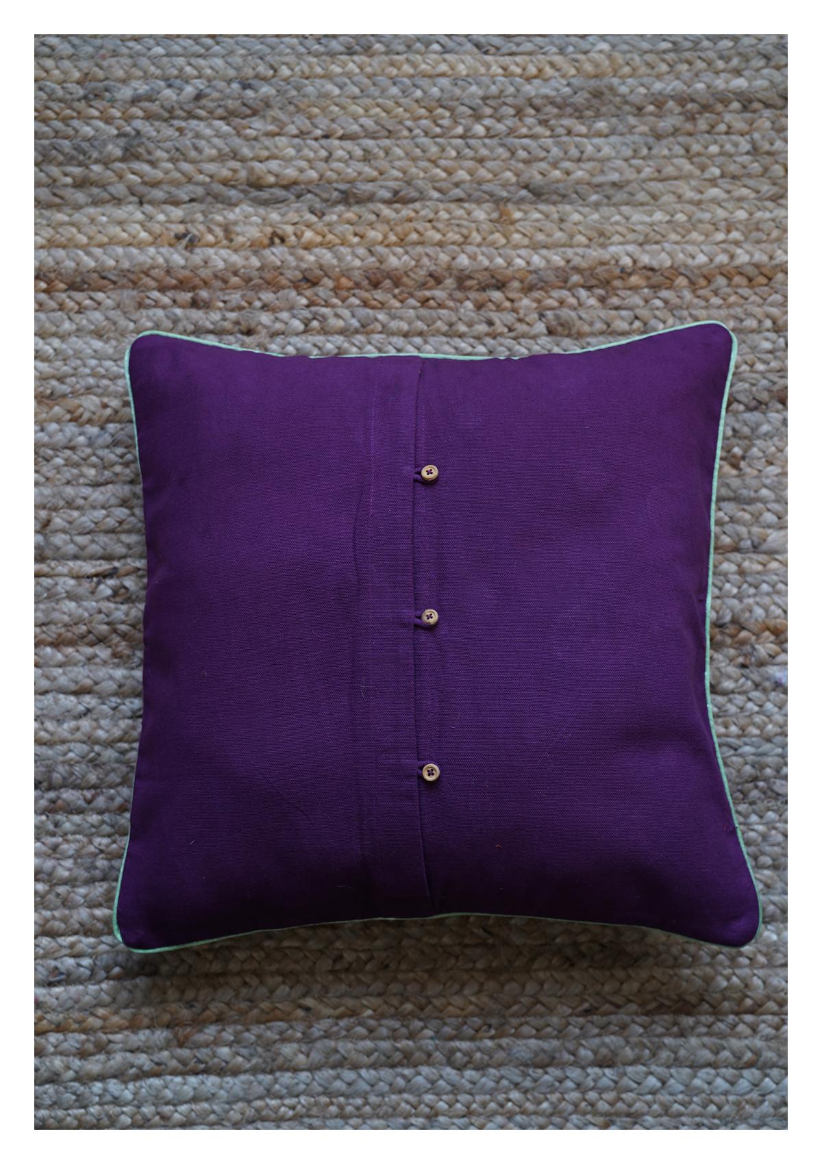 Galaxy Purple Canvas Cushion Cover