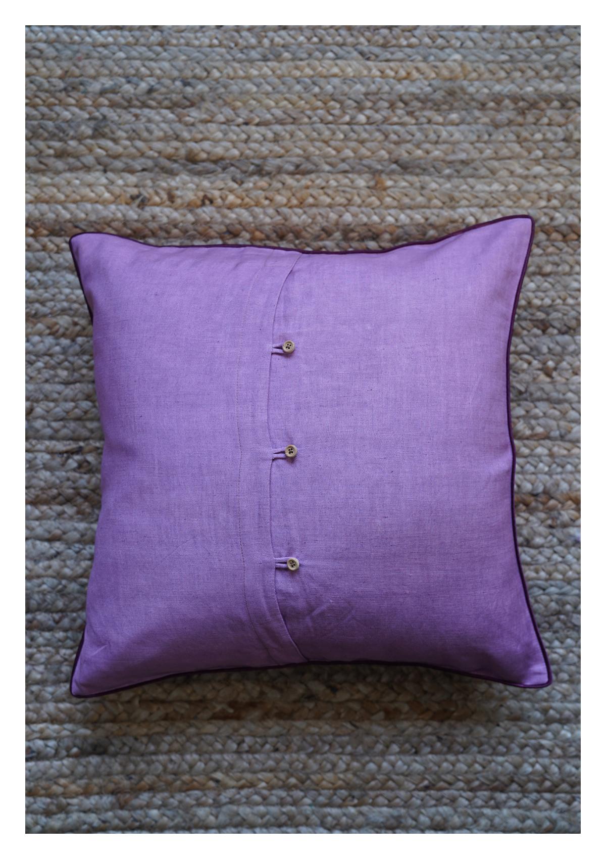 Grape Ape Lavender Linen Cushion Cover