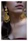 Zubie Handmade Goldtone Silver Earrings