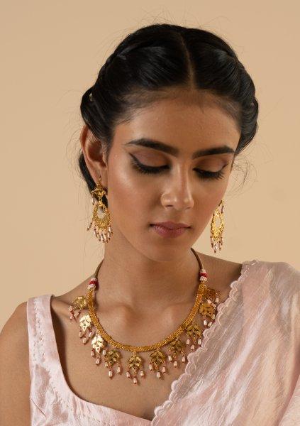 Kashi Gold Tone Silver Necklace