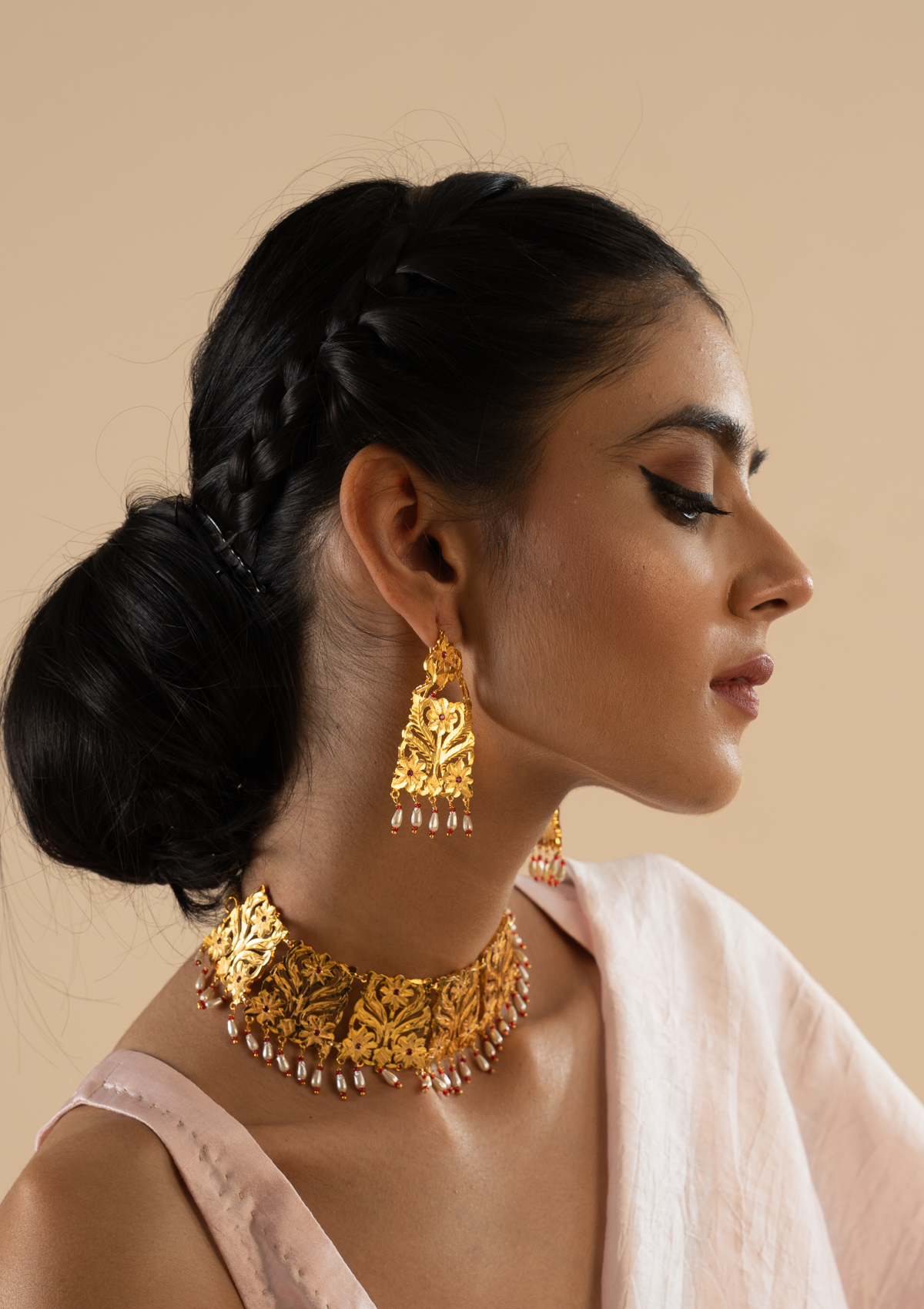 Sabeena Gold Tone Silver Earrings