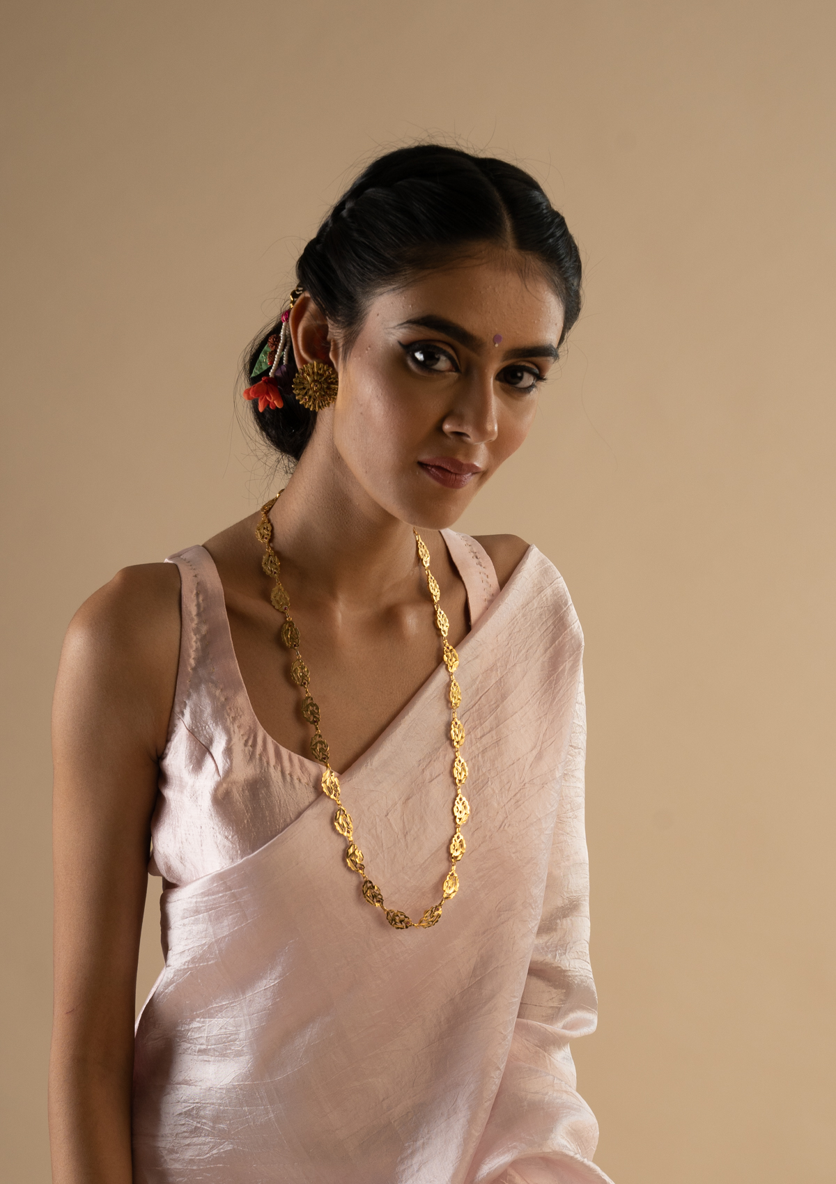 Lalitha Gold tone Silver Necklace