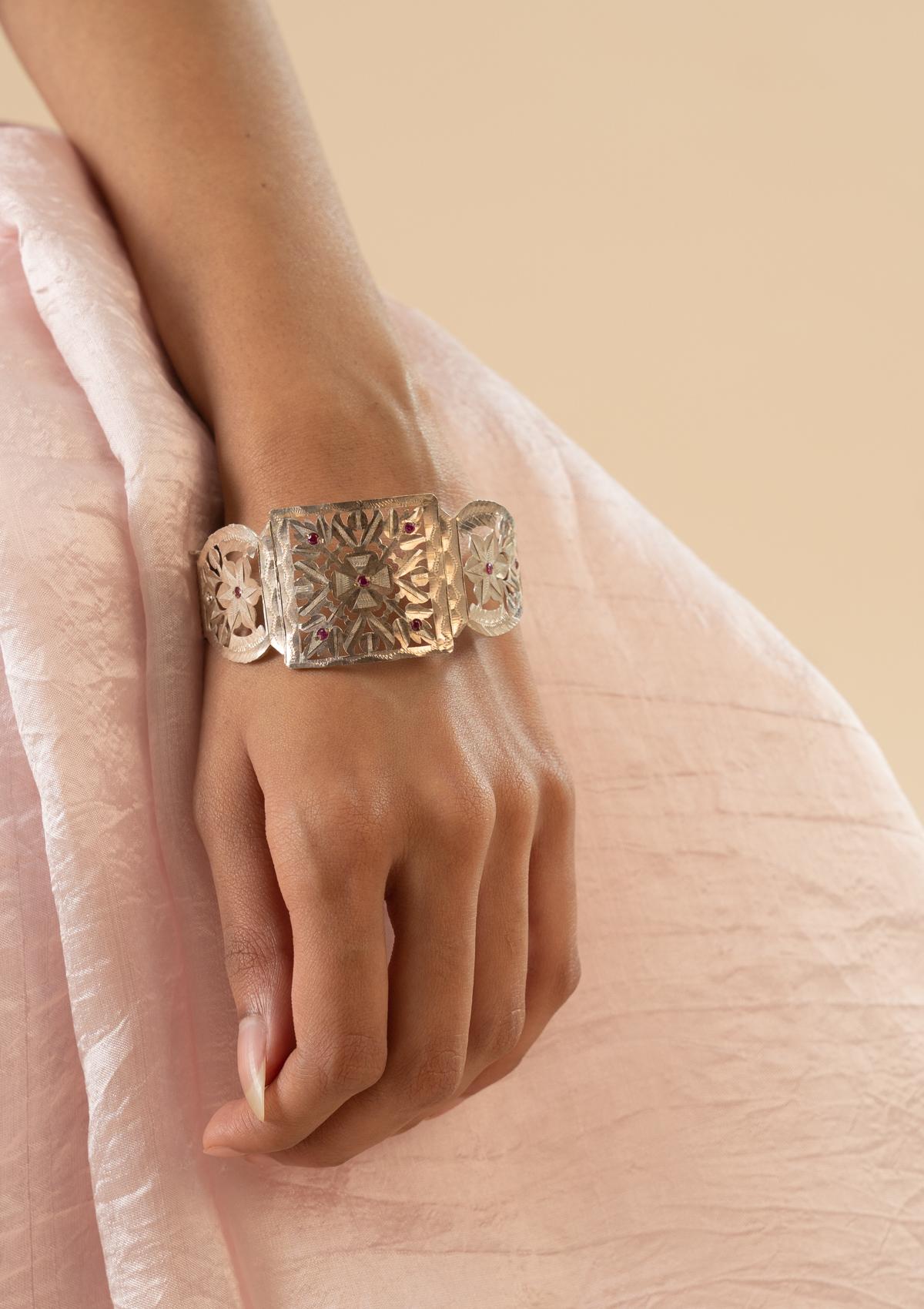 Madri Silver Bangle