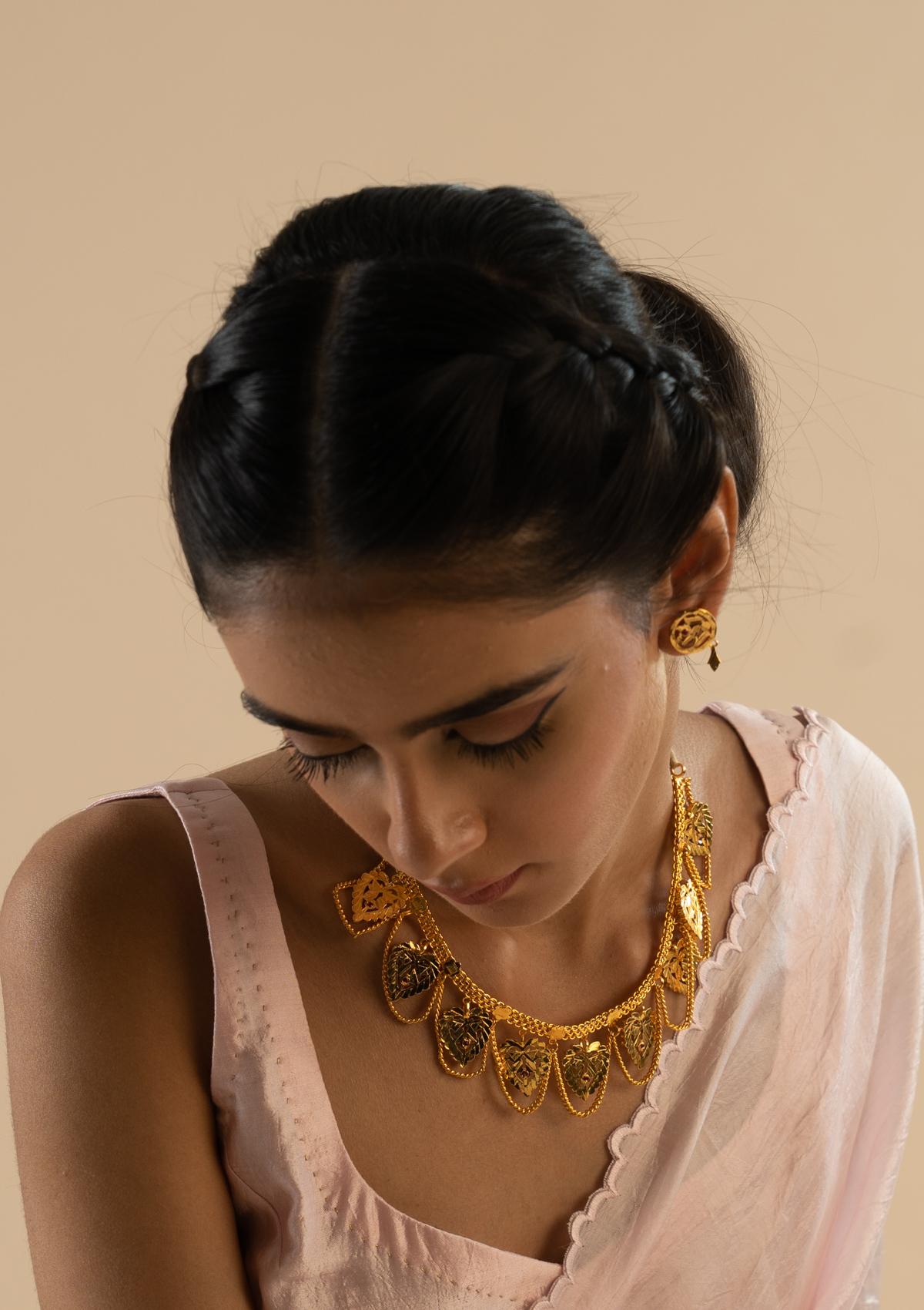Padmini Gold Tone Silver Necklace