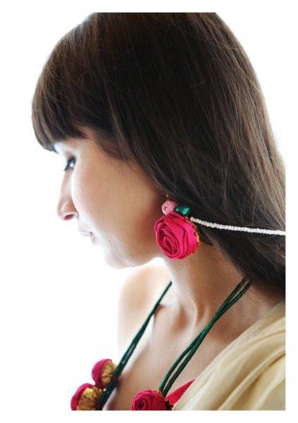 Fukayna Pink Rose Earrings