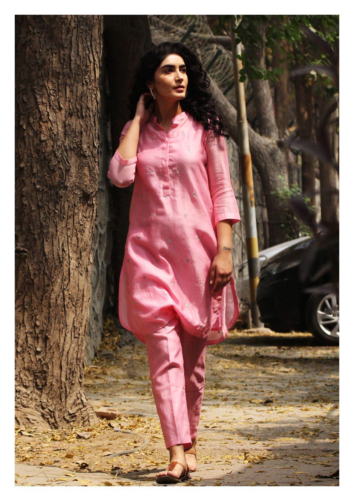 Rose Pink Kurta Pajama Set
