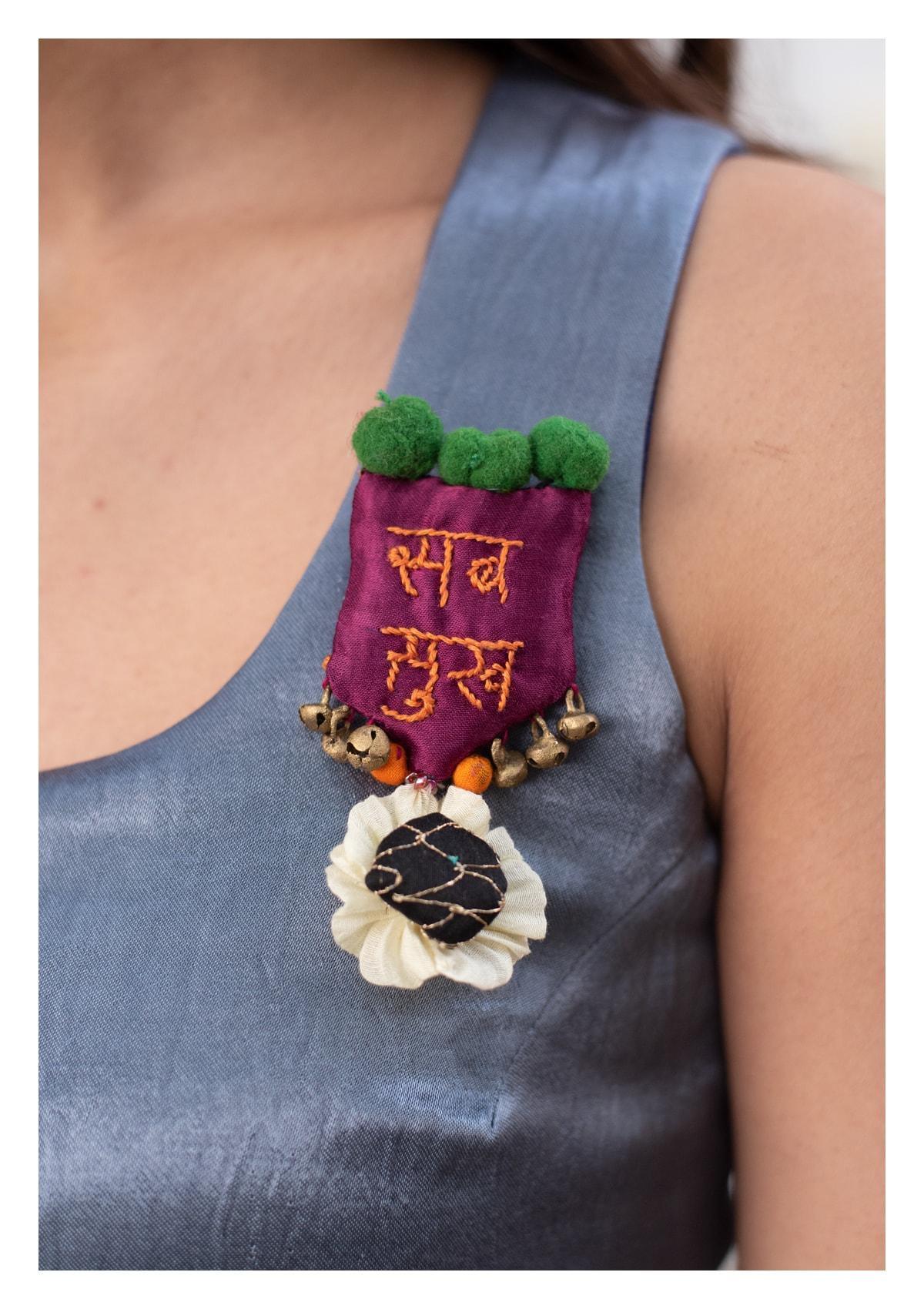 Sab Sukh Handmade Brooch