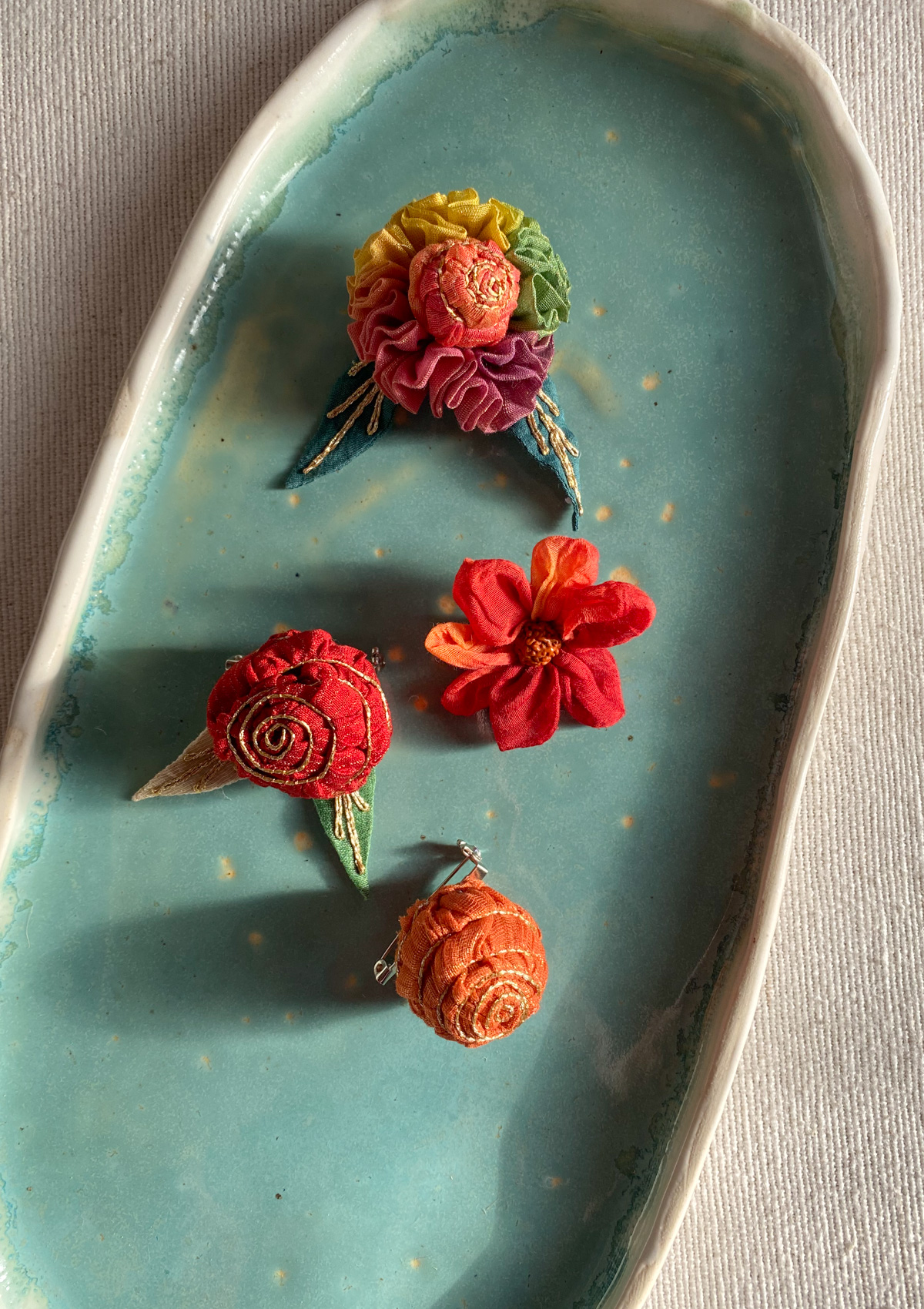 Zahrada Brooches - Set of 4