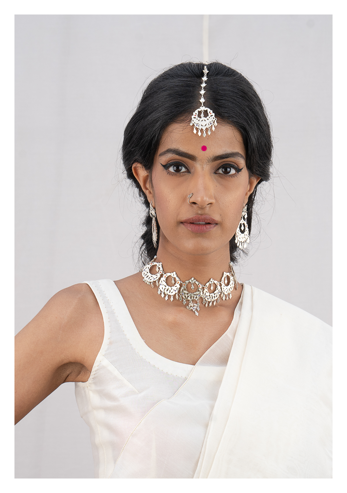 Fadila Silver Necklace