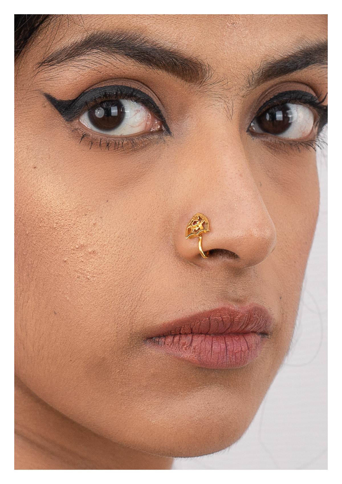 Fara Gold Tone Silver Nosepin