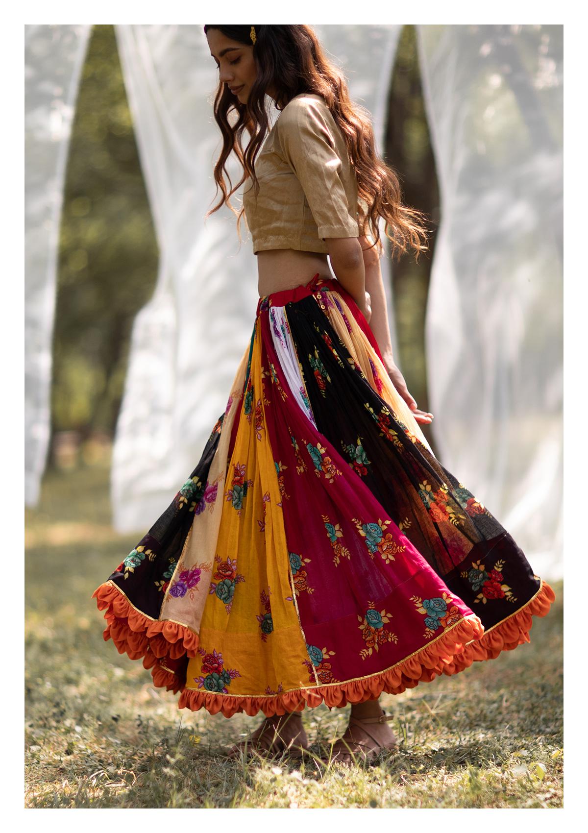 Kalbeliya Cotton Ghagra Skirt