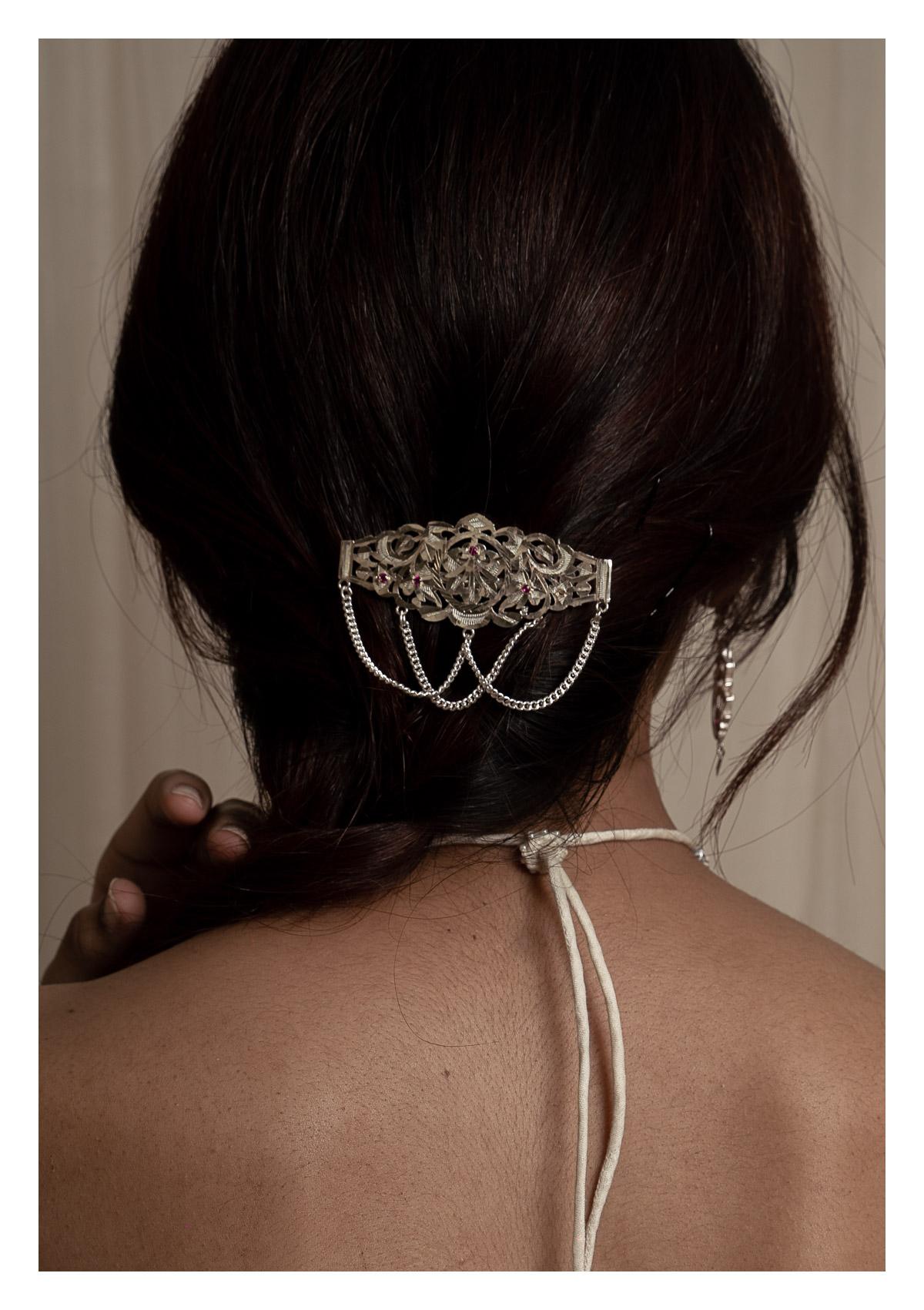 Gilori Silver Hairclip