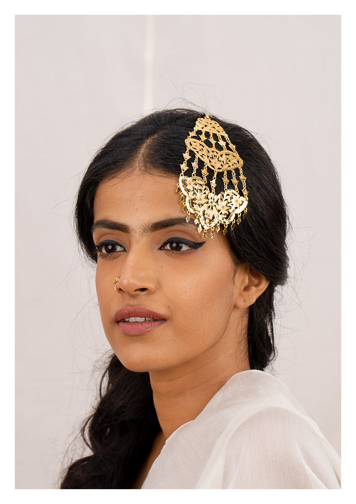 Gohar Gold Tone Silver Passa