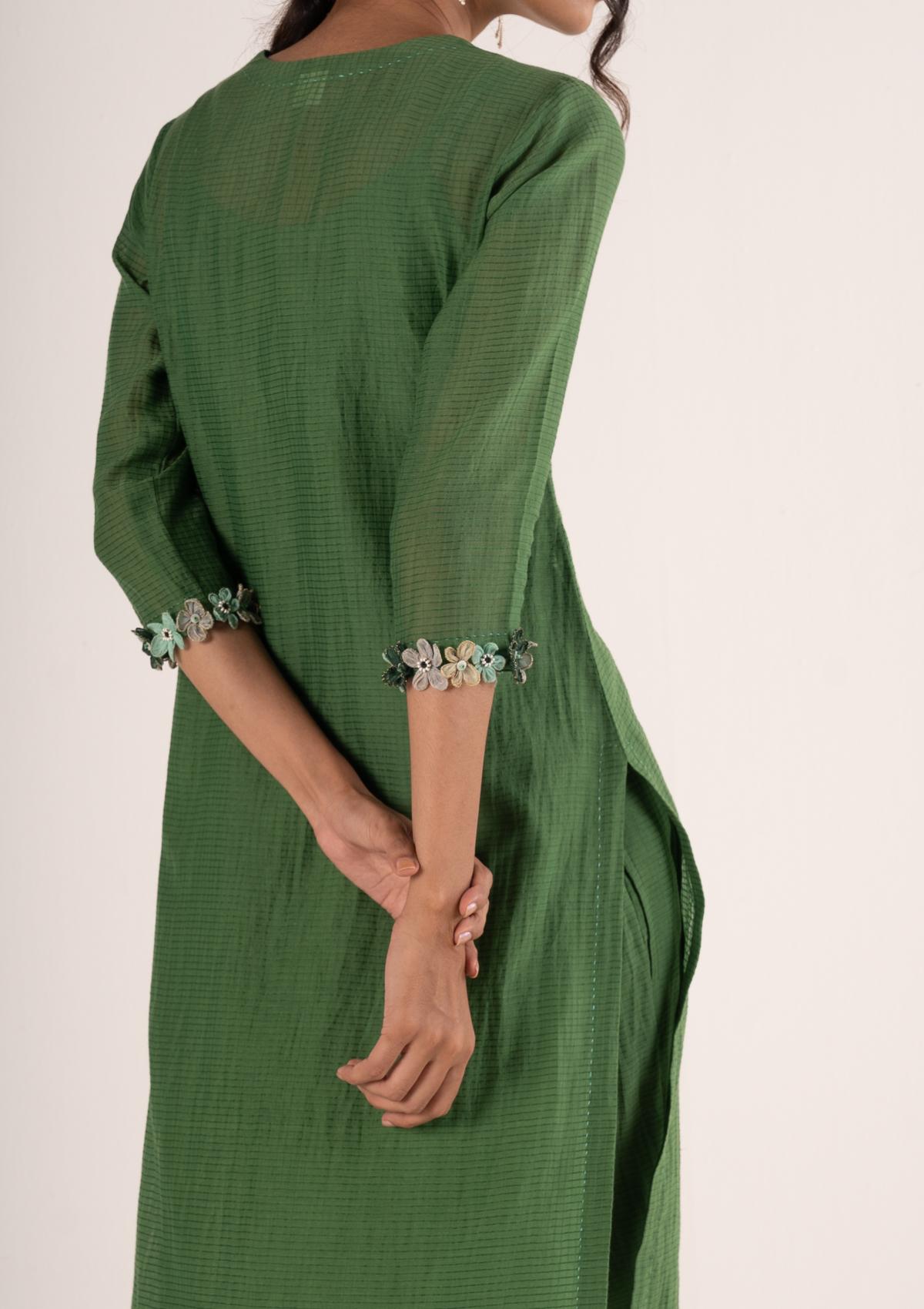 Neemi Green Kurta Pants Set