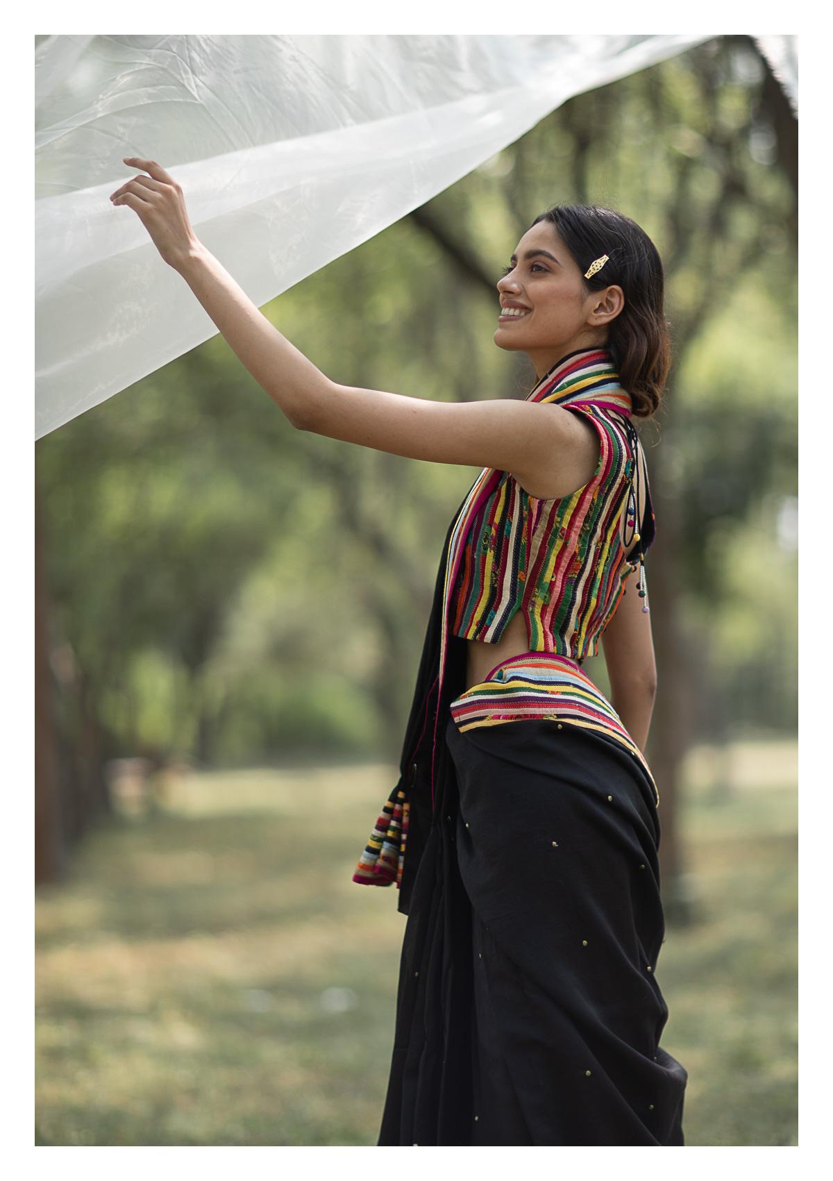 Gulshan Multicolored Chanderi Blouse