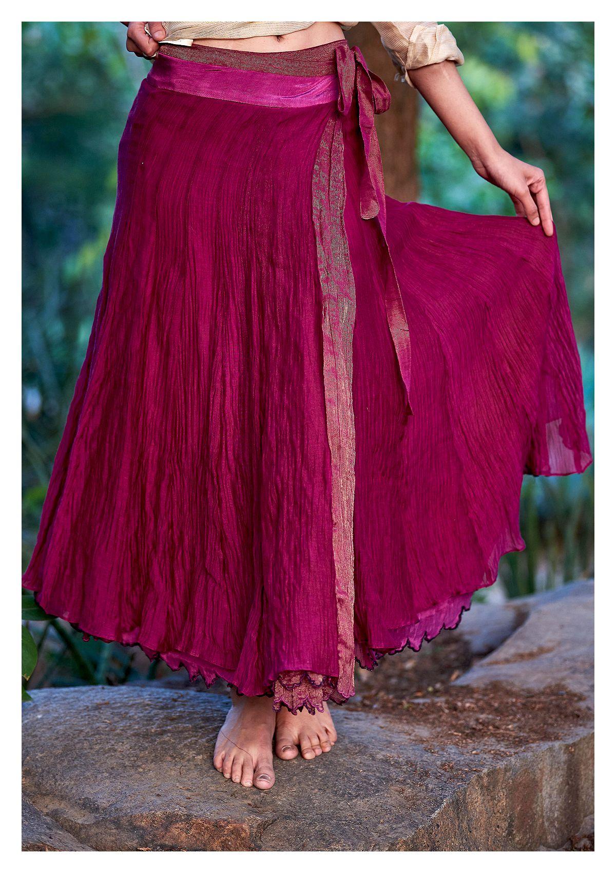 Hareke Purple Reversible wrap Skirt