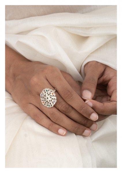 Harini Silver Ring