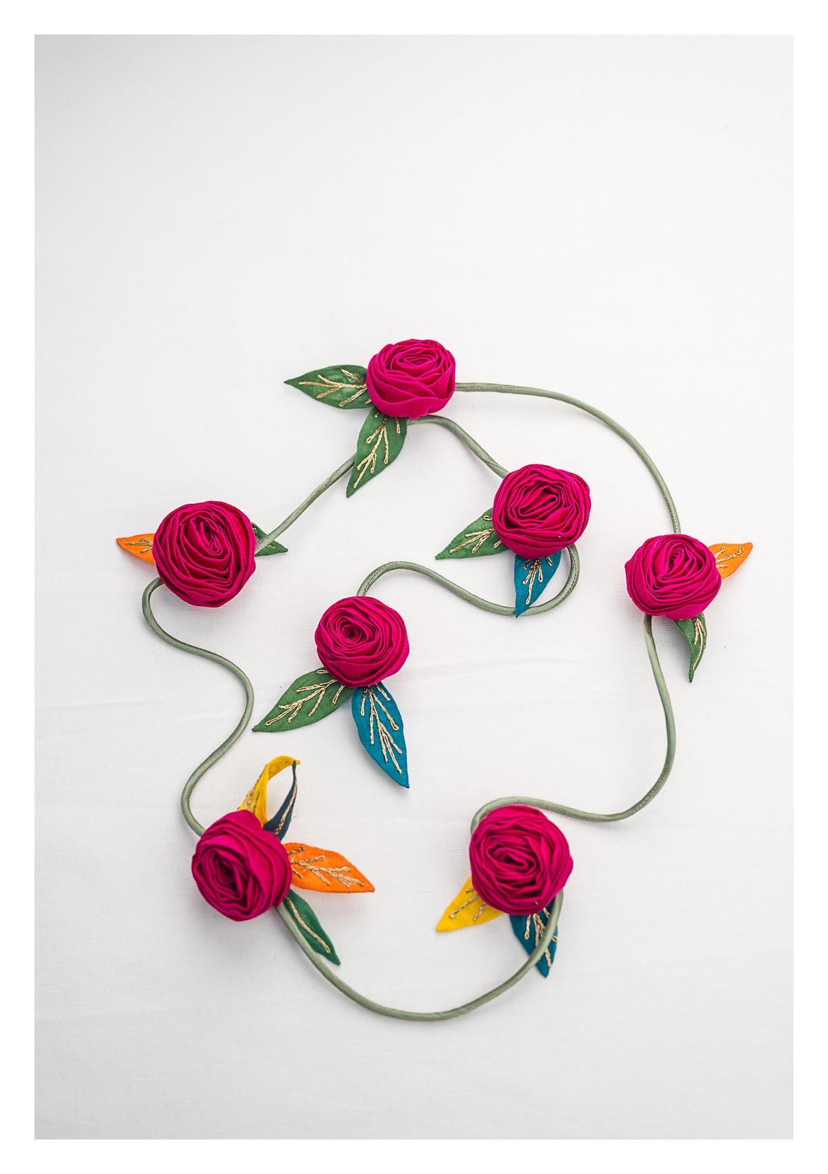 Holly Pink Textile Decor String