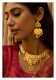 Surayu Handmade Gold tone Silver Necklace & Earrings Set