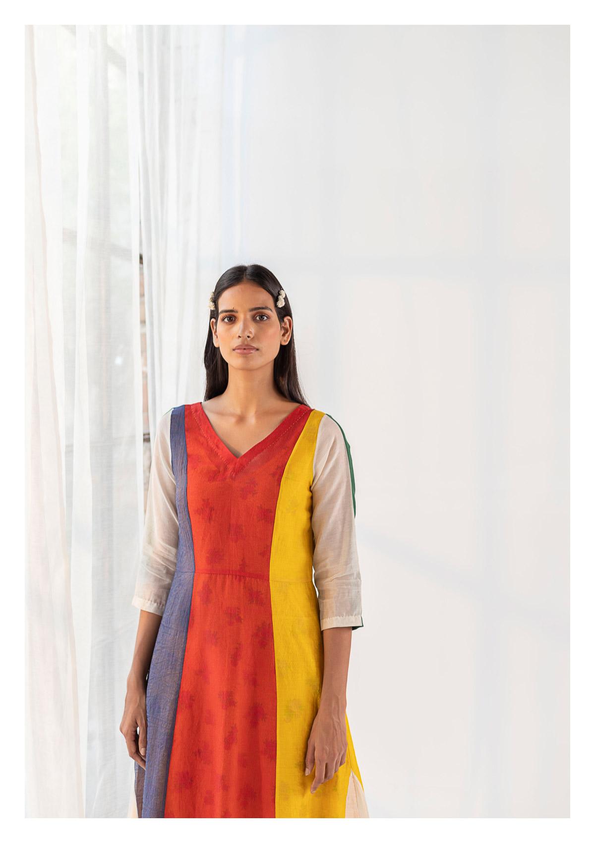 Joie Multicolored Chanderi Dress