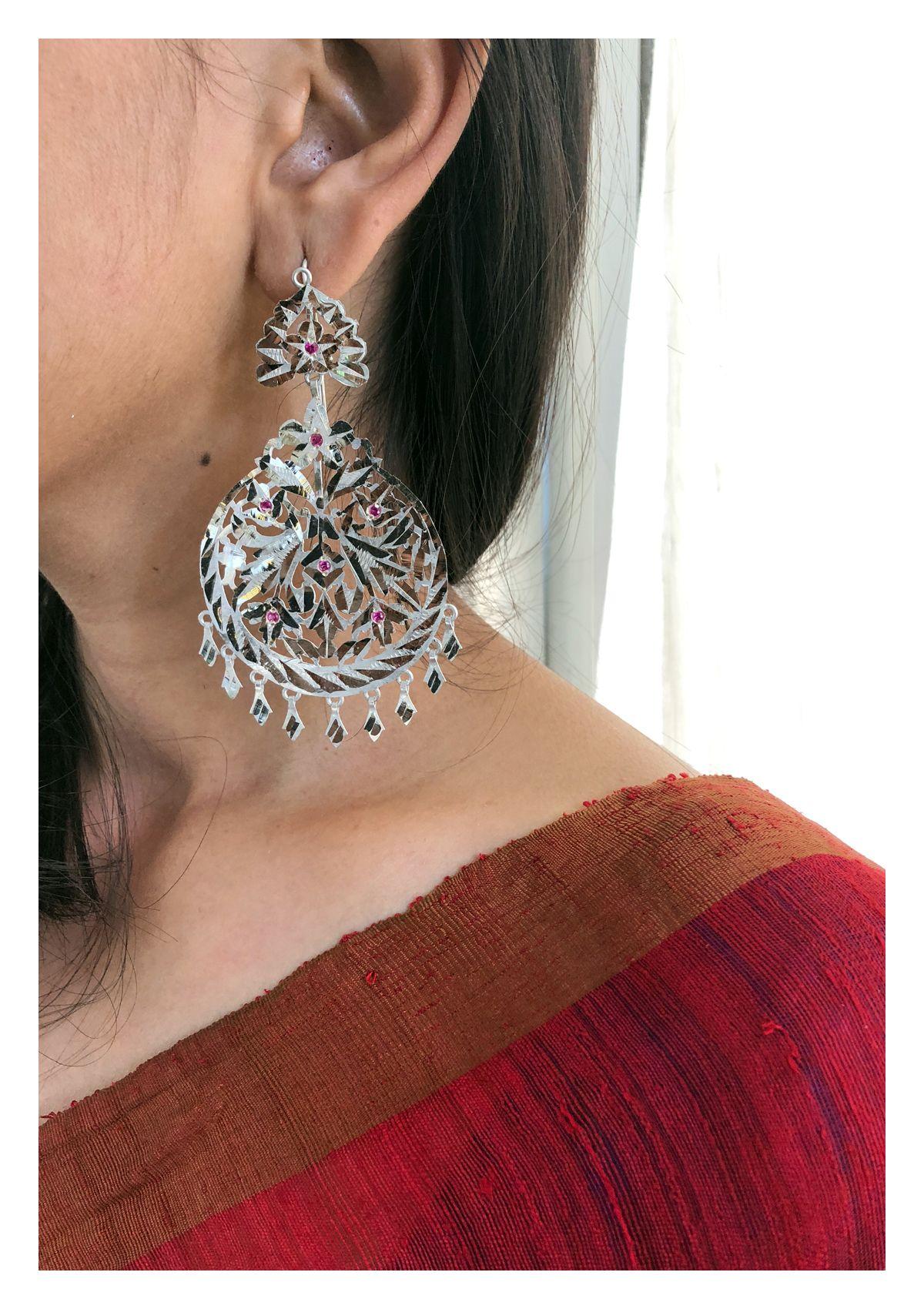 Naseera Handmade Silver Earrings