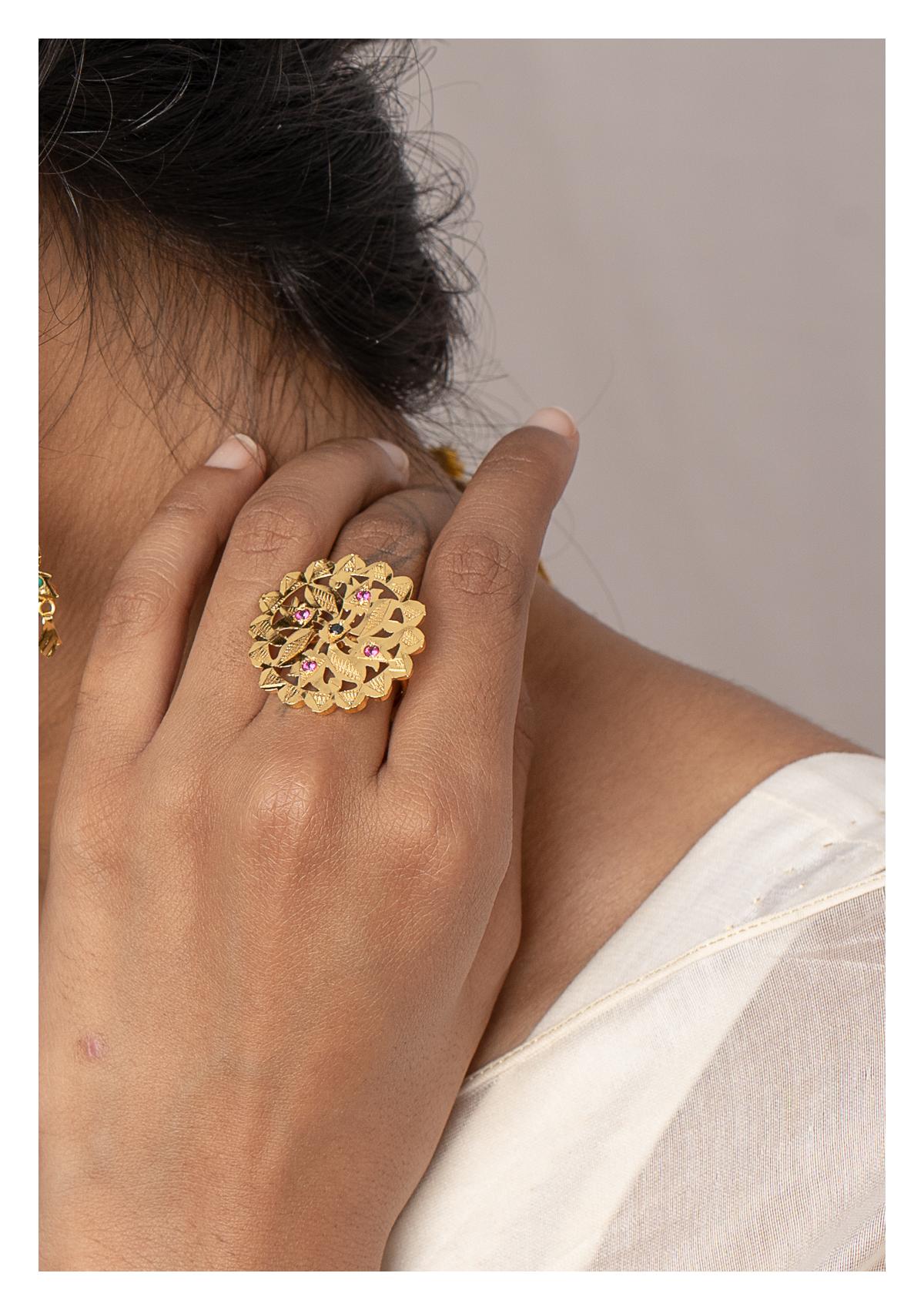 Kalima Gold Tone Silver ring