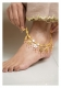 Kashi Gold Tone Silver Anklets