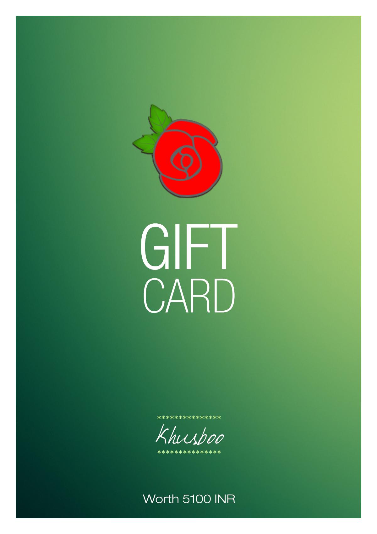 Khusboo Gift Card