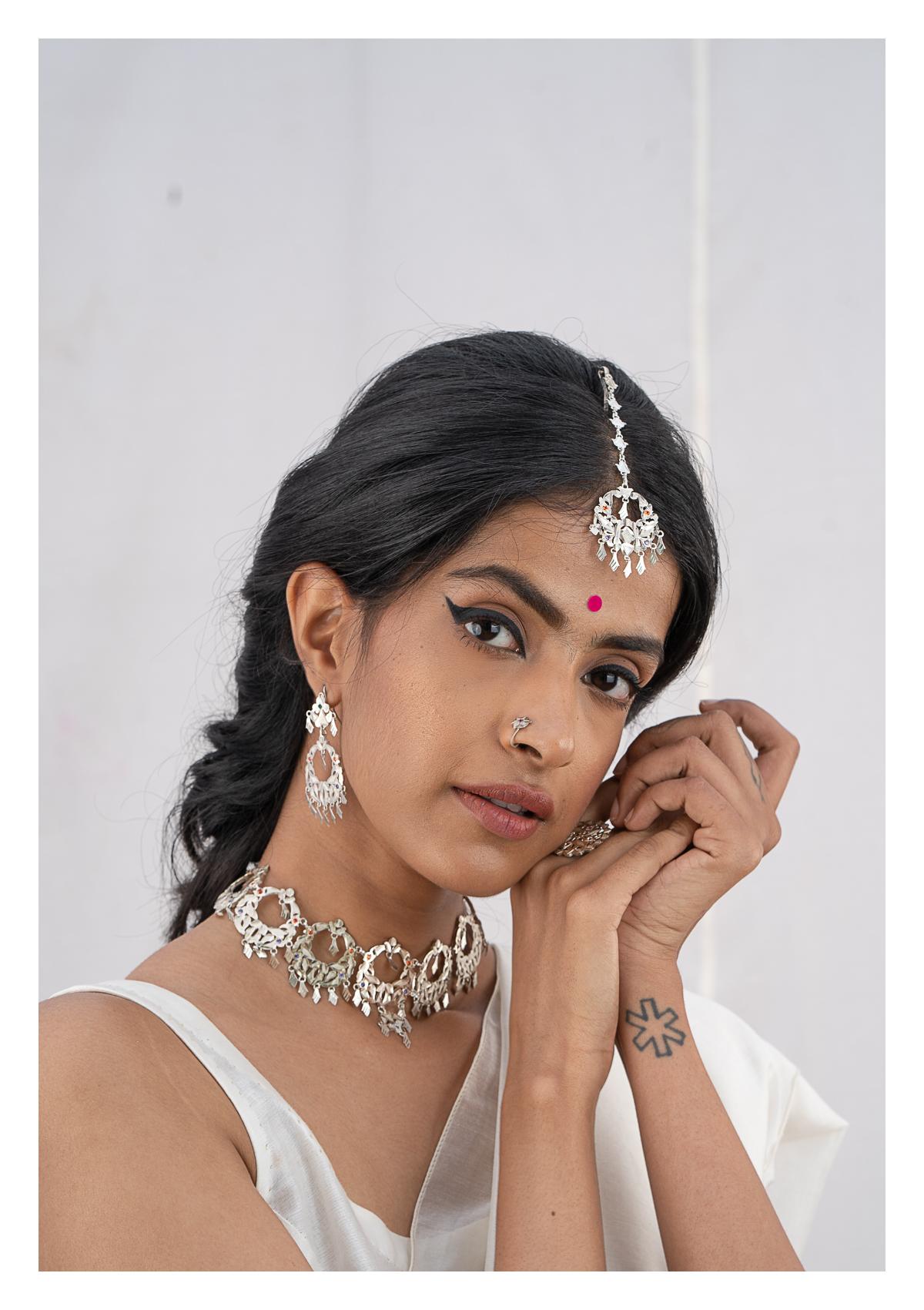 Laxmi Silver Dulhan Set