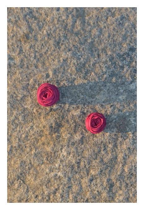 Karsa Rose Magnet Earrings