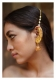 Maheen Handmade Goldtone Silver earrings