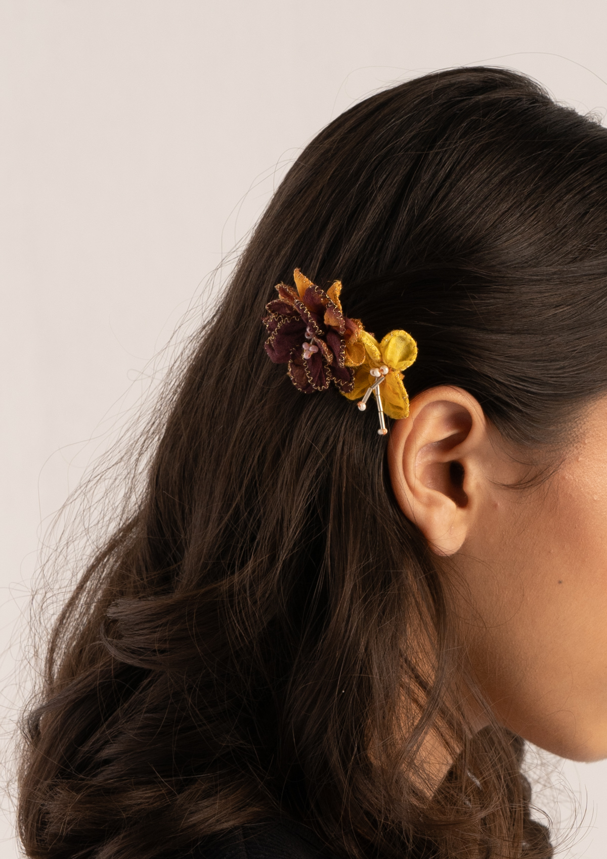 Merle Floral Comb Clips