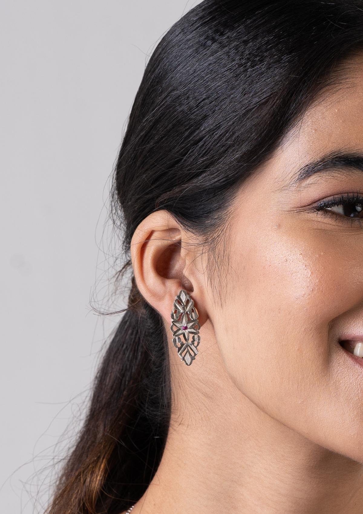Baleen Silver Earrings