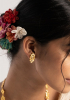 Chuni Gold Tone Silver Earrings