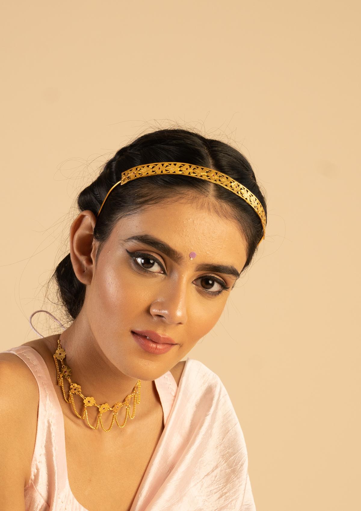 Lekha Gold Tone Silver Hairband