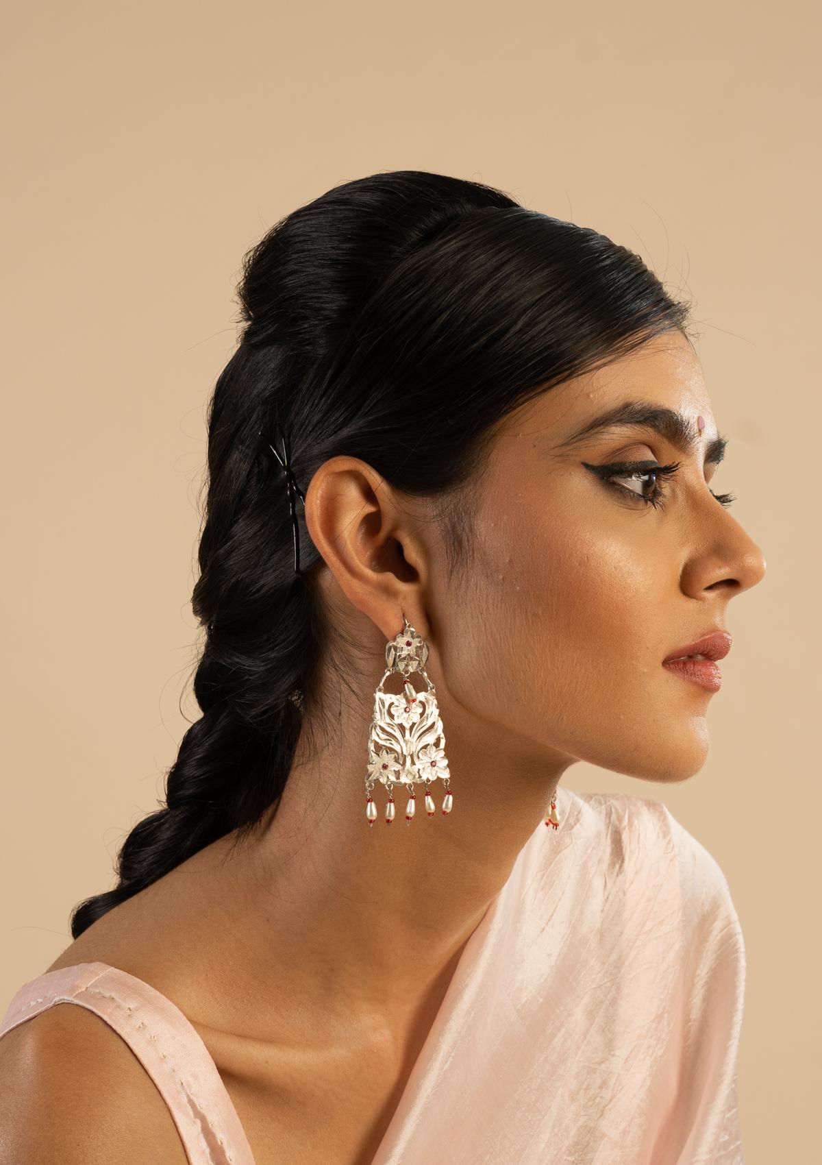 Sabeena Silver Earrings