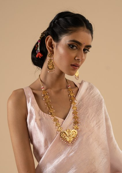Mumtaz Gold Tone Necklace & Earrings Set
