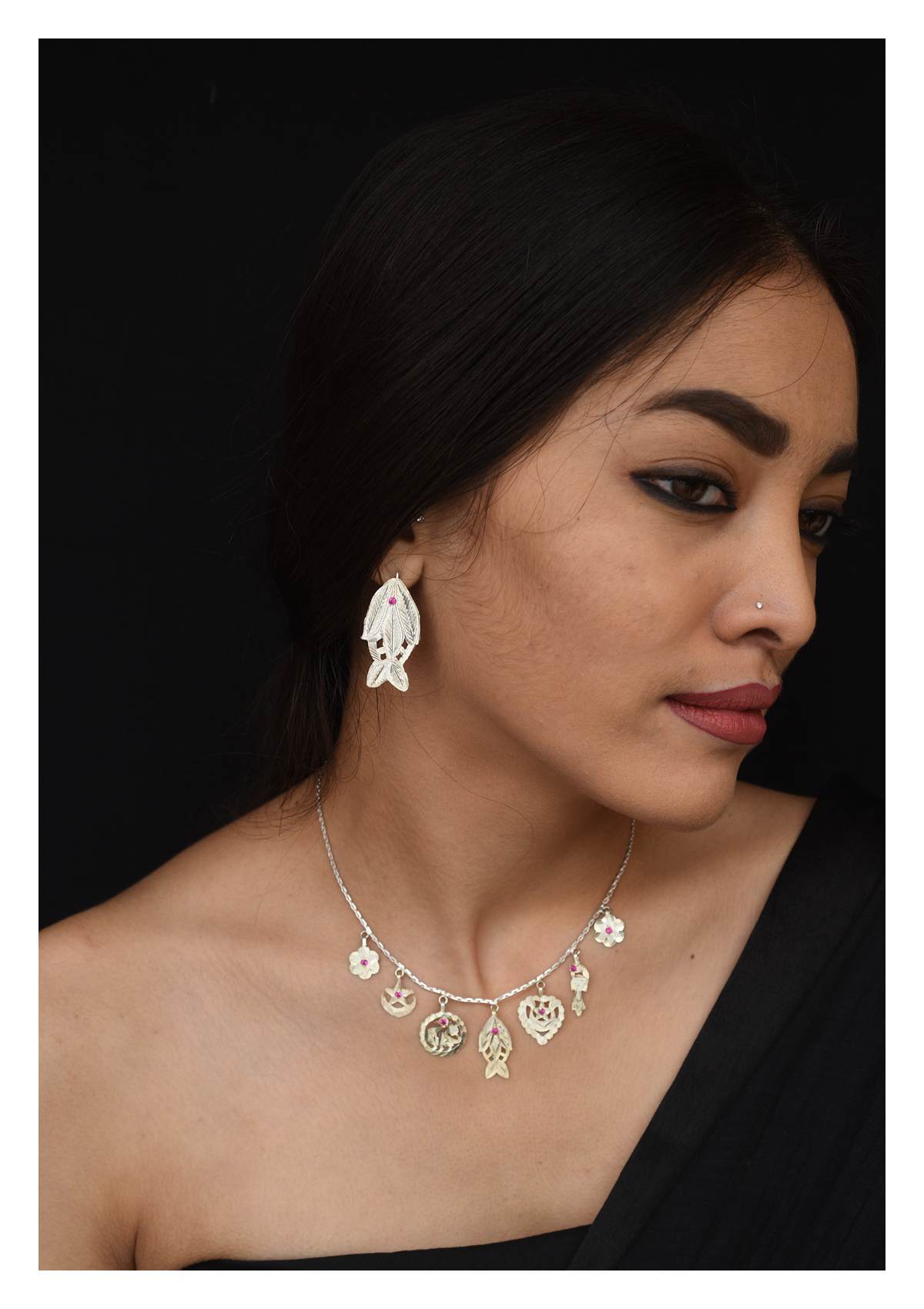 Machli Handmade Silver Earrings
