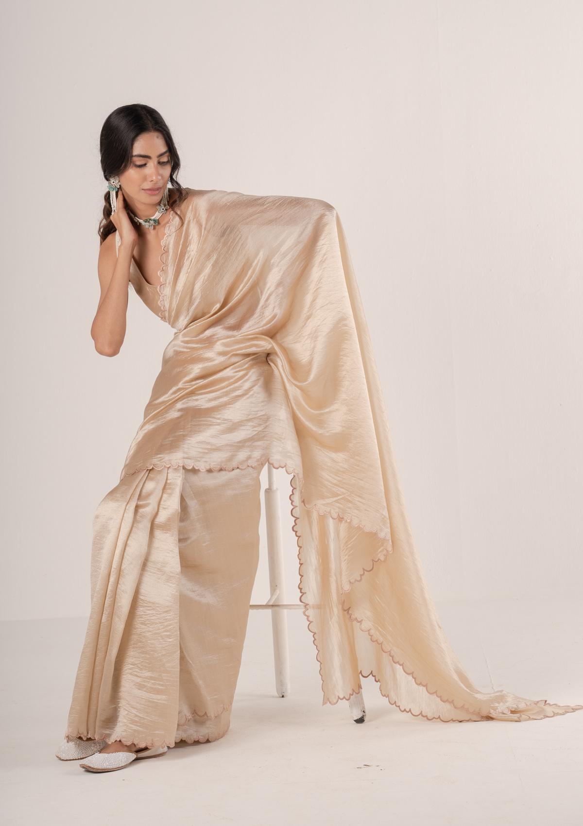 Gaura Blush Silk Saree